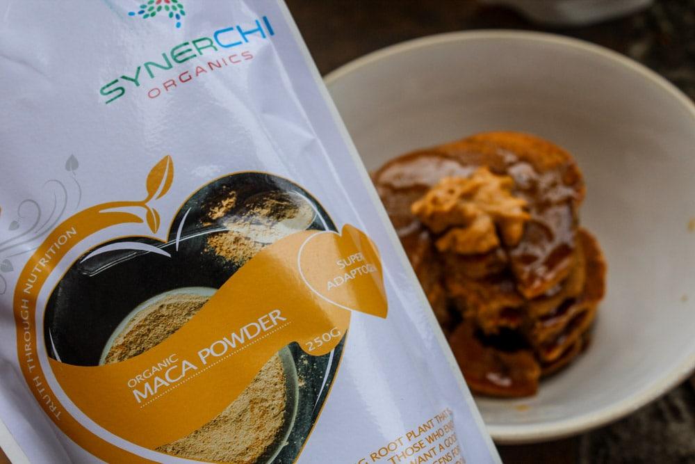 maca vegan buckwheat pancakes