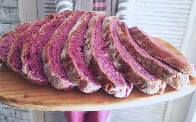 Purple Potato Sourdough Bread