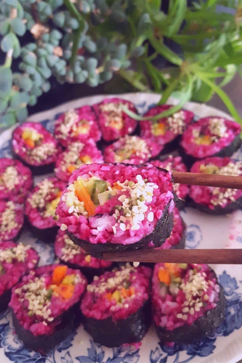 purple sushi