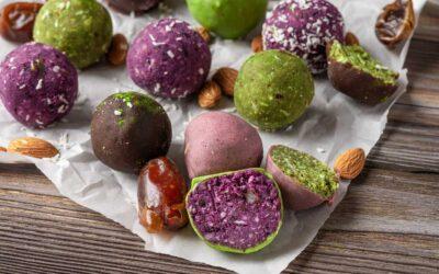 Purple Potato Powder Bliss Balls – Immune-Boosting