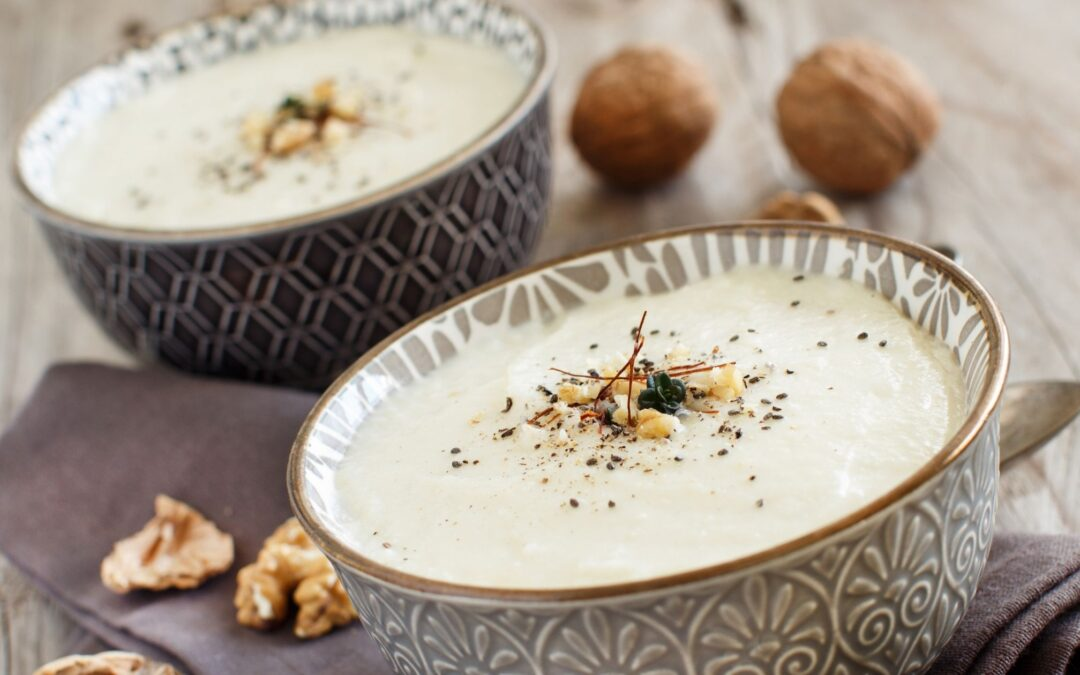 RICH ROASTED CAULIFLOWER SOUP with Maca