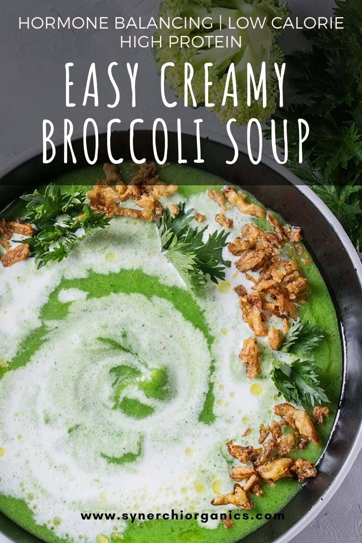 easy creamy broccoli soup